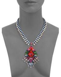 DANNIJO - Multicolor Valeria Crystal Statement Pendant Necklace - Lyst