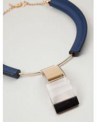 Marni - Blue Geometric Necklace - Lyst
