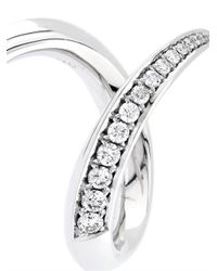 Shaun Leane - Diamond & White-Gold Crossover Ring - Lyst