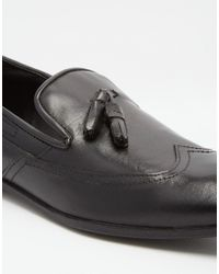 Frank Wright - Black Tassel Loafers for Men - Lyst