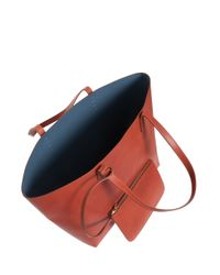 Mansur Gavriel - Brown Large Leather Tote Bag - Lyst