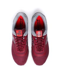 New Balance - Multicolor 574 Burgundy & Grey Re-engineered Runner Trainers for Men - Lyst