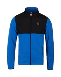 b258c5d7 Lyst - Fila Meran Microfleece Ski Blue Full Zip Jacket in Blue for Men