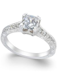 Macy's - Metallic Certified Diamond Channel Set Engagement Ring (1-1/3 Ct. T.w) In 18k White Gold - Lyst