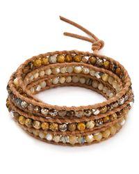 Chan Luu - Natural Beaded Wrap Bracelet - Lyst
