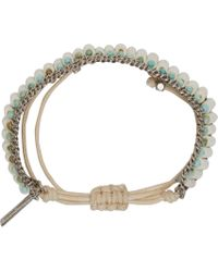 Isabel Marant | Metallic Bone And Turquoise Pottery Beaded Bracelet | Lyst