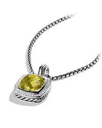 David Yurman | Yellow Albion Pendant With Diamonds, 14mm Gemstone | Lyst