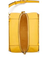 Tory Burch - Yellow Robinson Pebbled Mini Satchel - Lyst