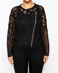 Asos Curve | White Exclusive Premium Lace Jacket | Lyst
