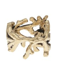 Aurelie Bidermann - Metallic Tree Arm Apple Ring - Lyst