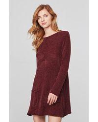 fffc36a5f4a Lyst - BB Dakota Beverly Chenille Sweater Dress in Red