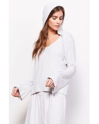 BB Dakota - White Makin Magic Bell Sleeve Hoodie - Lyst