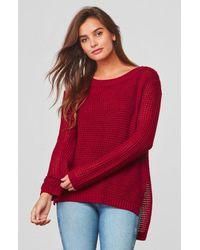 Jack BB Dakota - Red Dunning Waffle Stitched Sweater - Lyst