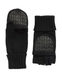Lauren by Ralph Lauren | Black Popover Knit Gloves | Lyst