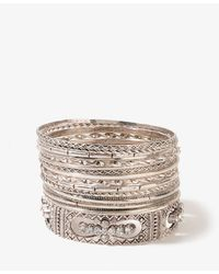 Forever 21 | Metallic Rhinestone Cross Bangle Set | Lyst