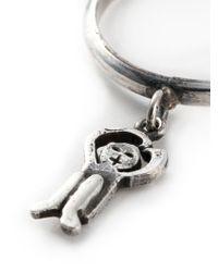 Societe Anonyme | Metallic Hanging Logo Pendant Ring | Lyst