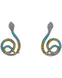 Betsey Johnson | Multicolor Dark Shadows Snake Drop Earrings | Lyst