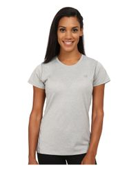 New Balance - Gray Heathered Short Sleeve Tee - Lyst