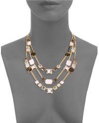 Kate Spade | Metallic Neapolitan Mosaic Strand Necklace | Lyst