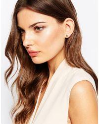 Orelia - Metallic Relia Clover Stud Earrings - Lyst