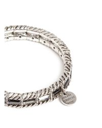 Philippe Audibert - Metallic Crystal Embellished Elasticated Bracelet - Lyst
