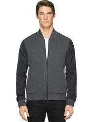 Calvin Klein Jeans - Gray Interlock Bomber Jacket for Men - Lyst