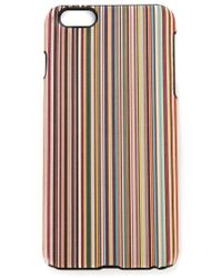 Paul Smith - Multicolor Striped Iphone 6 Plus Cover for Men - Lyst