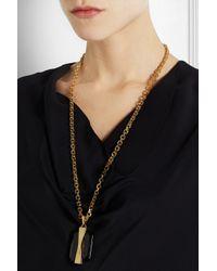 Alexander McQueen | Metallic Gold-Plated Swarovski Crystal Necklace | Lyst