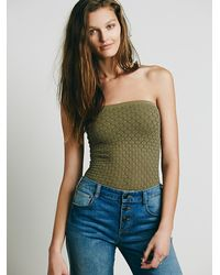 Free People - Green Honey Textured Tube - Lyst