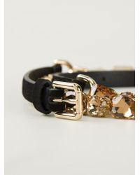 Dolce & Gabbana - Black Crystal Detail Belt - Lyst