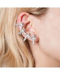 Leivan Kash | Metallic Dagger Ear Cuff Silver | Lyst