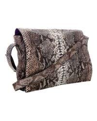 Zagliani - Gray Python Skin Bag - Lyst