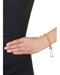 Michael Kors | Metallic Gold Tone Beaded Bracelet | Lyst