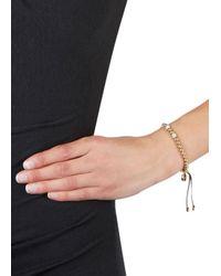 Michael Kors - Metallic Gold Tone Beaded Bracelet - Lyst