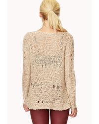 Forever 21 | Natural Free Spirit Sweater | Lyst