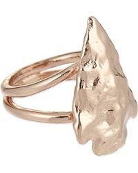 Pamela Love | Pink Mini Arrowhead Ring | Lyst