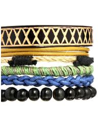 ASOS - Black Festival Bracelet Pack for Men - Lyst