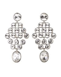 Givenchy - Multicolor Silver-Tone Chandelier Earrings - Lyst