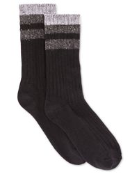 Hue | Black Women's Tweed Stripe Boot Socks | Lyst