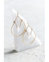 Urban Outfitters | Metallic Crystal Ball Hoop Earring | Lyst