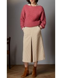 Vilshenko - Natural Lee Wide Leg Cord Culottes - Lyst