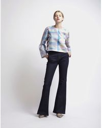 Cynthia Rowley - Multicolor Scarf Print Flared Sleeve Top - Lyst