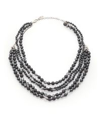 Chan Luu | Black Hematite, Crystal & Sterling Silver Multi-strand Beaded Necklace | Lyst