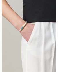 Aurelie Bidermann | White Tassel Bangle | Lyst