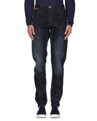 Armani Jeans | Blue Denim Trousers for Men | Lyst