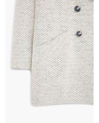 Mango | Gray Bouclé Wool Coat | Lyst