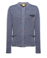 BOSS Orange - Blue Cardigan 'karum' In Cotton for Men - Lyst