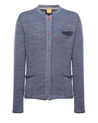 BOSS Orange | Blue Cardigan 'karum' In Cotton for Men | Lyst