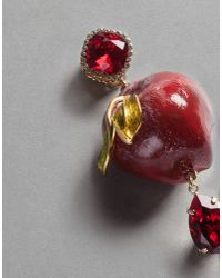 Dolce & Gabbana - Red Apple Earrings - Lyst