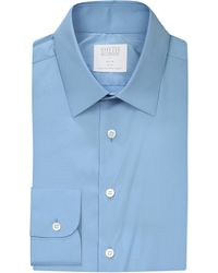 Smyth & Gibson | Blue Slim-fit Penny Square Stretch-cotton Shirt for Men | Lyst